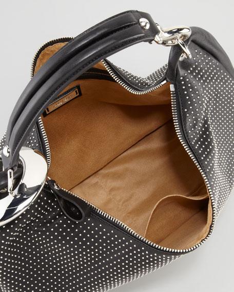 Solar Large Studded Hobo Bag Black