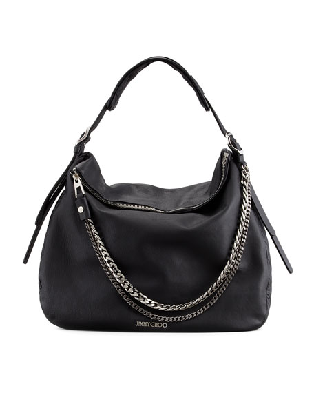 359435a63f8 Jimmy Choo Boho Biker Hobo Bag