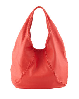 Bottega Veneta Cervo Large Hobo Bag, Red