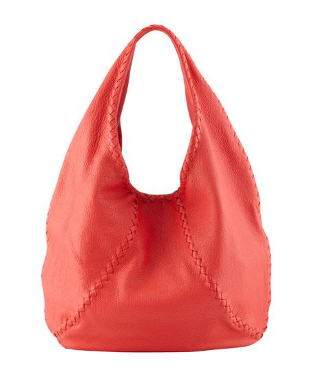 Cervo Hobo Bag, Red
