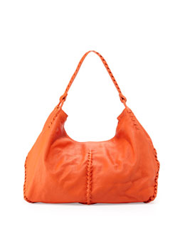 Bottega Veneta Cervo Large Shoulder Bag, Tangerine