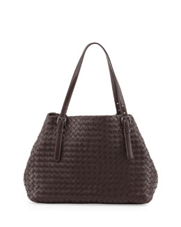 Bottega Veneta A-Shaped Medium Tote Bag, Dark Brown