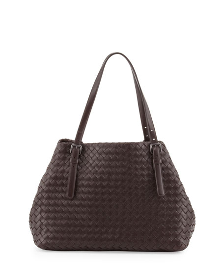 A-Shaped Tote Bag, Dark Brown