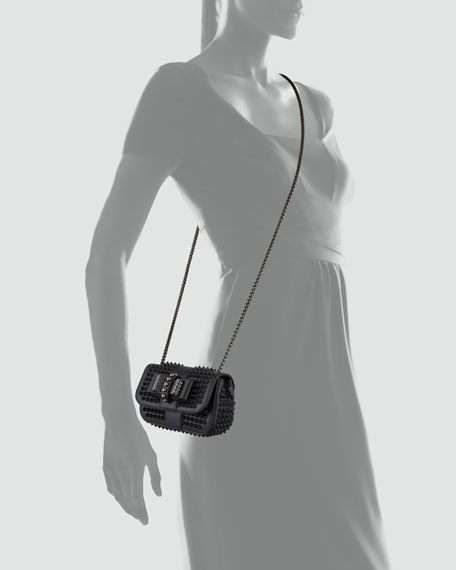 329ccae364d Sweet Charity Small Spiked Crossbody Bag Black
