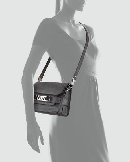 PS11 Mini Chalkboard Shoulder Bag, Dark Gray
