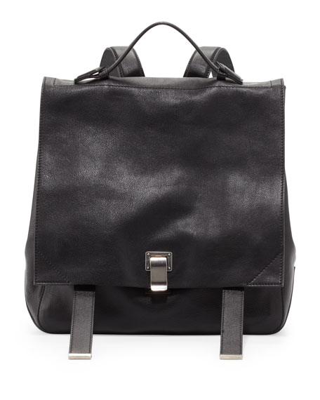 PS Large Leather Backpack, Black