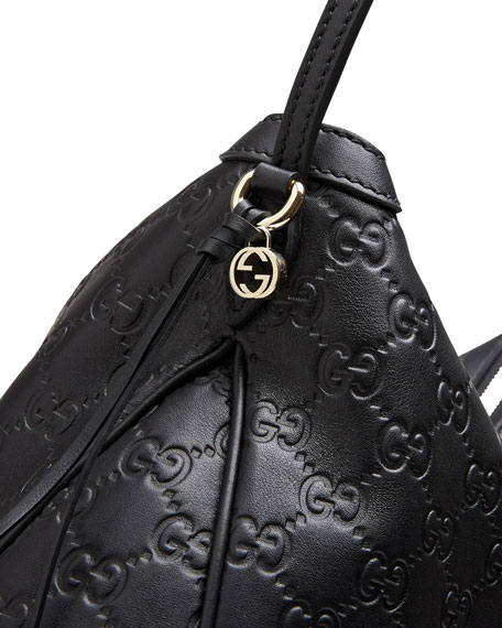 90c1bff8db27 Gucci Bree Guccissima Leather Hobo Bag, Black