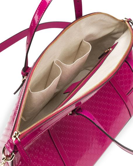 61a37f5301673b Gucci Gucci Nice Microguccissima Leather Top-Handle Bag, Fuchsia