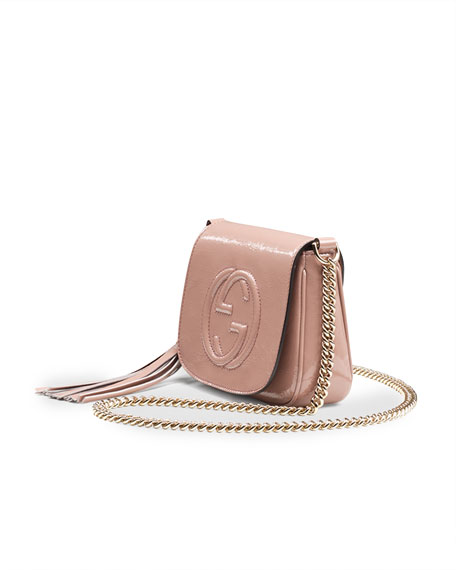 9a0d02a78e5 Gucci Soho Small Patent Leather Chain Shoulder Bag