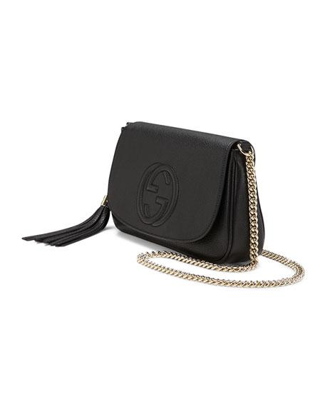 18f4829b2314ed Gucci Soho Medium Leather Shoulder Bag, Black