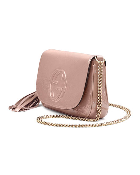 634956b6fdb Gucci Soho Medium Patent Leather Shoulder Bag