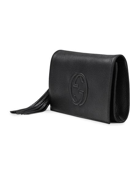 940bb0be65cb Gucci Soho Leather Clutch Bag, Black