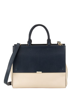 Victoria Beckham Soft Colorblock Leather Tote Bag