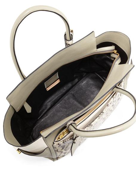 Atlantique Soft Leather & Anaconda Tote Bag