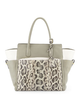Reed Krakoff Atlantique Soft Leather & Anaconda Tote Bag