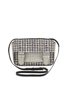 Reed Krakoff Standard Academy Printed Crossbody Bag, Black/White