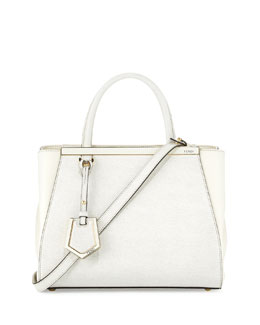 Fendi 2Jours Mini Shopping Tote Bag, White