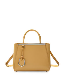 Fendi 2Jours Mini Patent Shopping Tote Bag, Yellow
