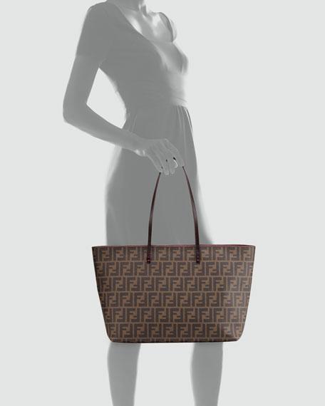 1cd07f4ae6 Fendi Zucca Medium Roll Tote Bag, Brown/Pink