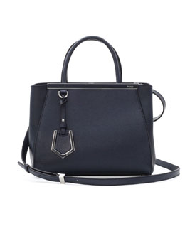 Fendi 2Jours Mini Tote Bag, Navy