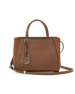 Fendi 2Jours Mini Tote Bag, Brown