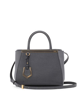 Fendi 2Jours Mini Tote Bag, Gray