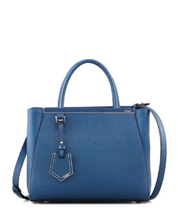 Fendi 2Jours Mini Shopping Tote Bag, Cobalt