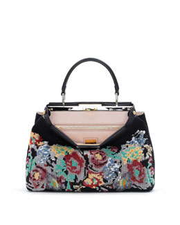Fendi Peekaboo Medium Floral Tote Bag