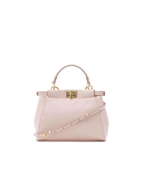 Peekaboo Mini Satchel Bag, Light Pink