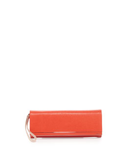 Fendi Rush Colorblock Clutch Bag, Red/Orange