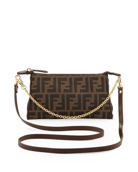 Fendi Mini Zucca Chain Crossbody Bag
