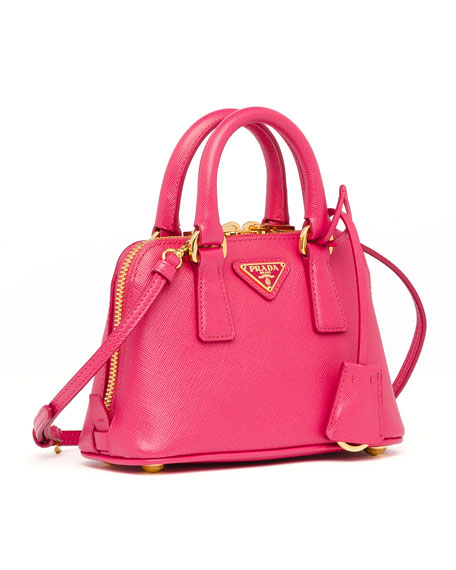 prada-handbag.com - Prada Mini Saffiano Promenade Bag, Pink (Peonia)