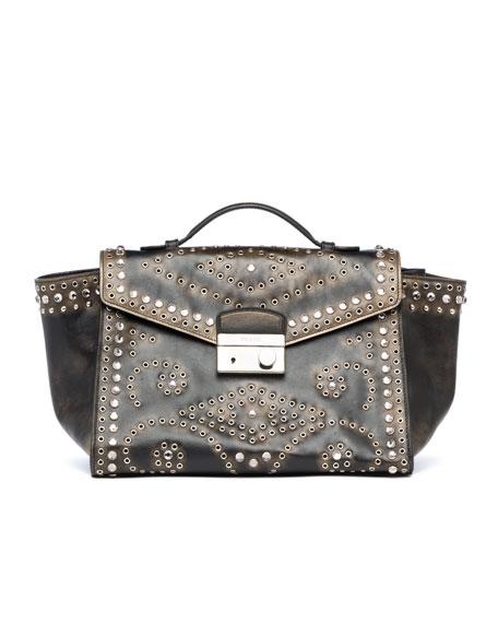 432c341fb8525e Prada Vitello Vintage Twin Pocket Satchel Bag, Black (Nero)