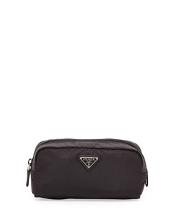 Prada Vela East-West Cosmetic Case, Black