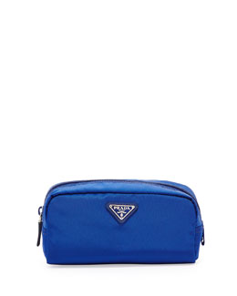 Prada Vela Cosmetic Bag, Blue