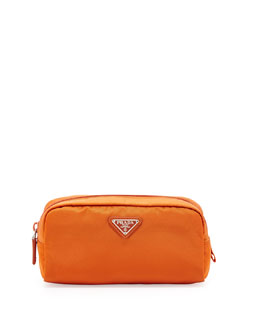 Prada Vela East-West Cosmetic Case, Orange