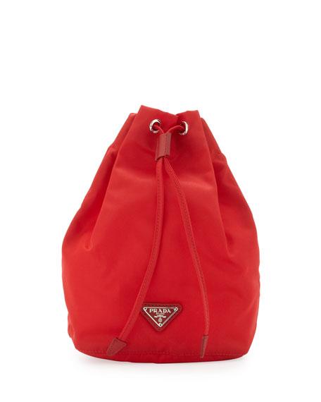 e0c9b4224ff5be Prada Vela Drawstring Pouch, Red (Rosso)