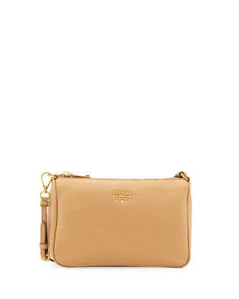Daino Small Shoulder Bag, Tan (Nocciola)