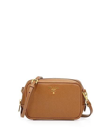 9a73f7294786 Prada Saffiano Small Zip Crossbody Bag