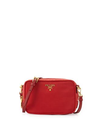 prada leather wristlet - PRADA Tessuto Small Crossbody Bag, Red (Rosso)