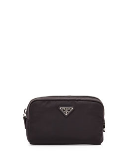 Prada Vela Square Cosmetic Case, Black