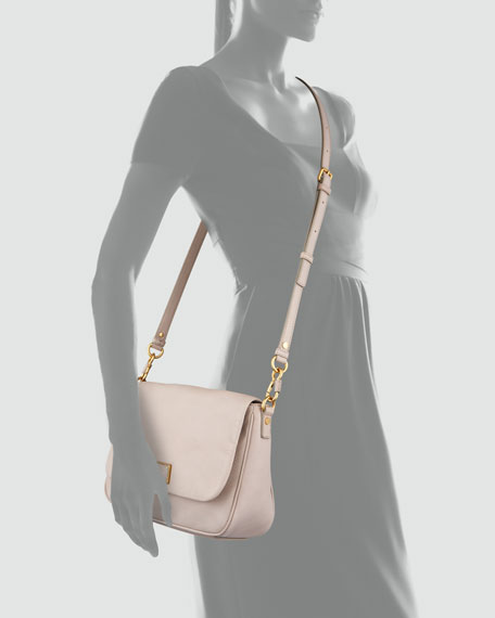 Too Hot to Handle Leather Crossbody Bag, Cream