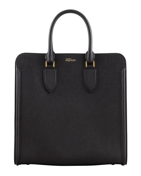 Heroine Leather Tote Bag, Black