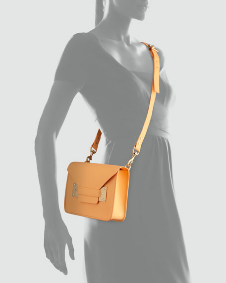 Mini Envelope Crossbody Bag, Tangerine