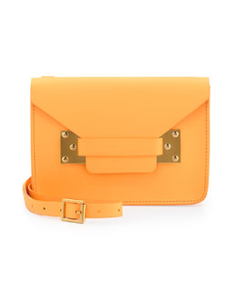 Sophie Hulme Mini Envelope Crossbody Bag, Tangerine