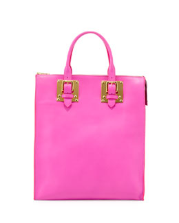 Sophie Hulme Soft Buckled Zip Tote Bag, Hot Pink