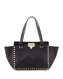 Valentino Rockstud Mini Tote Bag, Black