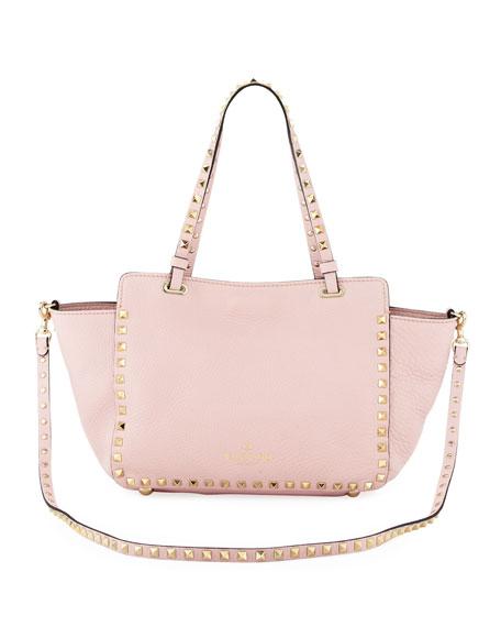 Rockstud Mini Tote Bag, Light Pink