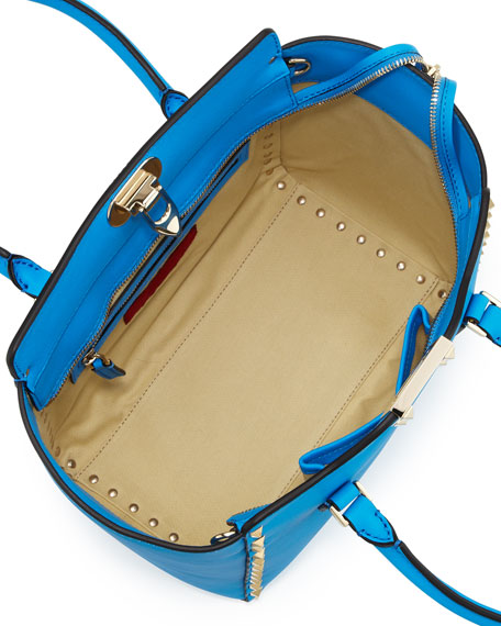 Rockstud Small Shopper Tote Bag, Blue