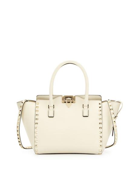 Rockstud Shopper Tote Bag, Ivory